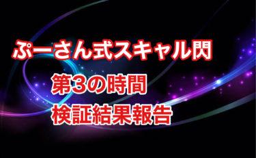 【ぷーさん式スキャル閃】第3の時間の1分足トレード検証結果報告
